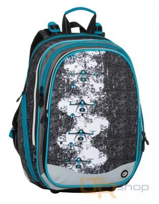 ELEMENT 8 školní batoh Bagmaster B-Black-Gray-Blue 5a7ea054dc