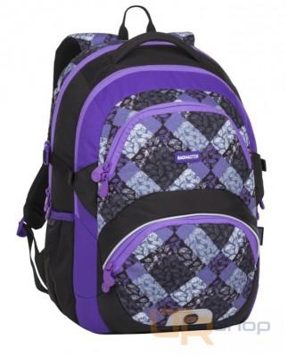 1f13b1dd28 THEORY 8 školní batoh Bagmaster B-Black-Violet-Grey