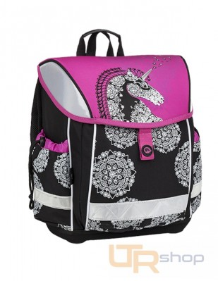 LIM 9 školní aktovka Bagmaster A-Pink-Black-White d49906bed9
